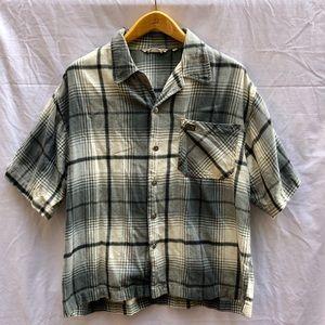 Vintage Quiksilver Short Sleeve Flannel Shirt XL